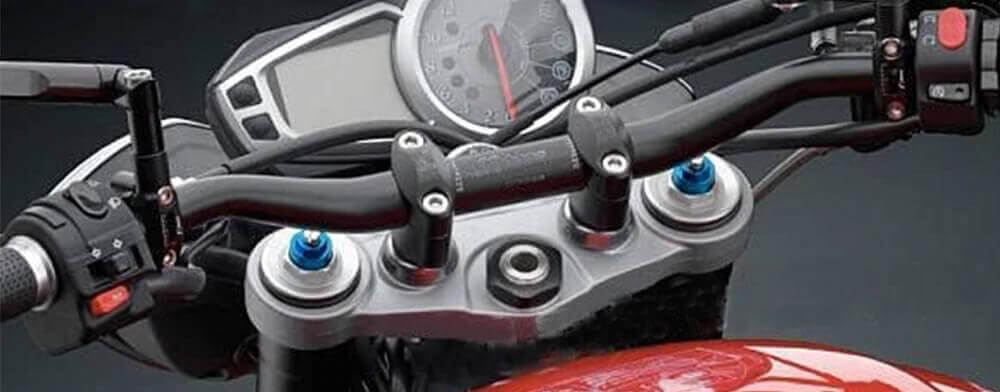 Zvýšení řidítek motocyklu